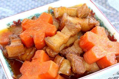 thịt ba chỉ kho cà rốt